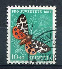 SUISSE - 1954, timbre 554, PAPILLON ECAILLE MARTRE, oblitéré