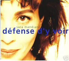 CD Single  Sara Mandiano - Défense d'y voir - 2 titres