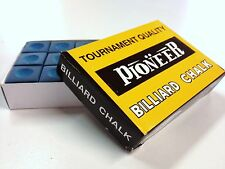 Pool Snooker Billiard Cue Tip Table Chalk *BLUE* 1 BOX of 12 blocks in the box