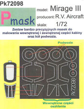 MIRAGE III PAINTING MASK TO RV R.V. AIRCRAFT KIT #72098 1/72 PMASK