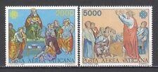 VATICANO 1983 Posta Aerea Anno mondiale delle comunicazioni cmpl 2 v. **