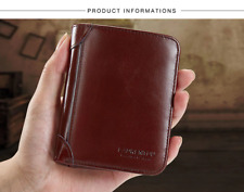 Man Genuine Leather Wallet Vintage Men's Short Purse card holder casual wallets