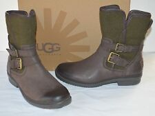 New $170 UG Simmens Stout Brown Leather/Olive Green Wool Waterproof Boots sz 6