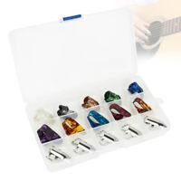 10 Finger + 5 miniature pics guitare plectre coloré pour guitare basse banjo  T