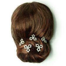5 épingles pics à cheveux chignon coiffure mariage mariée strass Cristal Blanc