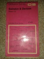 Ordnance survey swindon and devizes 1:50000 sheet 173 1974