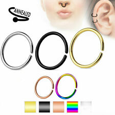 Nose Hoop Ring Rings C Shaped Ear Helix Cartilage Tragus Septum Titanium 20G NEW