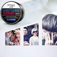 Men Silver Grey Wax Hair Model Salon Makeup Mud Long-lasting Fashion Style Gel