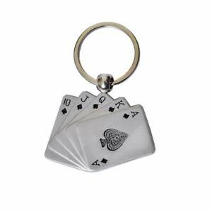 Poker Cards Metal Key Chain For Car Bike Men Women Keying For Card