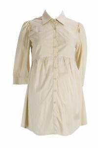 Olian Maternité Femmes Sable Poitrine Poches Chemise Bouton Tunic XS Nwt