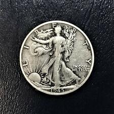 1945 S Walking Liberty Half Dollar 90% Silver F