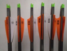 """@NEW@ 6 Victory 20"""" Carbon Crossbow Bolts/Arrows with Parker Capture Nocks"""