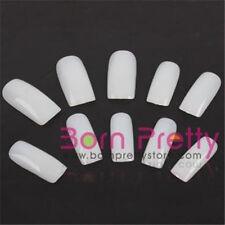 500 Stk Kunstnägel Nagel tips Nail art Künstliche Fingernägel Weiß Neu