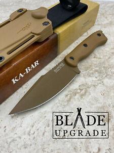 """Kabar Becker Harpoon 9.38"""" 1095 Cro-Van Fixed Knife with Sheath Brown BK18"""