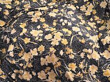 1,850m tissu jersey lycra  fleurs jaune fond bleu foncé ideal maillot