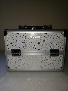 Joligrace Makeup Box Cosmetic Train Case Jewelry Organizer Lockable With Keys