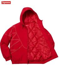Supreme zig zag Stitch Puffy Jacket chaqueta red rojo l new