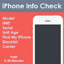 iPhone INFO Check - IMEI / Simlock / Carrier / Find My iPhone / Blacklist Status