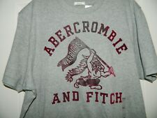 Men's Abercrombie Gray T-Shirt w/Burgundy Graphics Size XX-Large-NWT