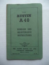 AUSTIN  A40.  Running and Maintenance Instructions.  Handbook June 1950