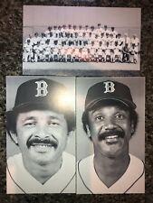 Boston Red Sox, Postcards, B&W Team Issue, 1980's Rice, Boyd