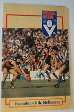 AFL - VFL - Footy Record - 1983 - Essendon v North Melbourne