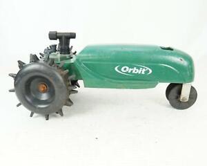 Vintage Orbit Traveling Train Watering Equipment Sprinkler Tractor Green & Black