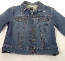 St1285 Gap Women's Blue Button-Down Jean Jacket Small