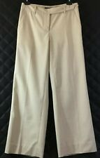 Robert Rodriguez Cropped Beige Dress Pants Size 2 With Side Lace Stripe.