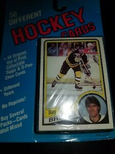 1988-89 O-Pee-Chee Topps Hockey Bubble Cello 50 Pack OPC Ray Bourque Showing