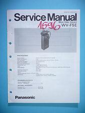 Servicio Manual de instrucciones para Panasonic wv-f5e, original