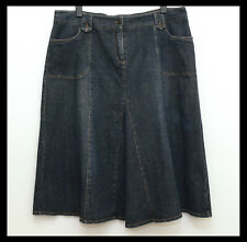 AUTOGRAPH Blue Paneled A-Line Denim Skirt with Pockets Size 18