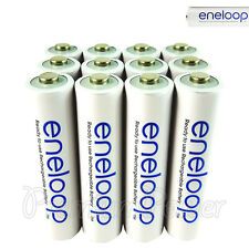 12 x Panasonic Eneloop AAA batteries 750 mAh Rechargeable Accu Ni-MH Phones HR03