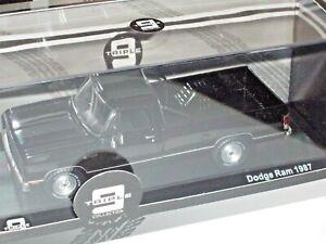 IXO/Triple 9 1/43 DODGE RAM PICK-UP 1987 Black with black interior 1 of 504pcs