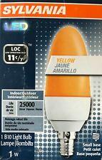 SYLVANIA 1-Watt B10 Shape Blunt Tip Yellow LED with Candelabra Base - NEW