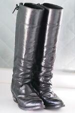 Harley Davidson Tall Black Leather Lace-Up Biker Boots Rocker Punk Sexy Womens 6