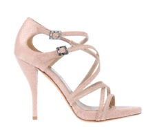LANVIN 40 Pink Python Leather Caged Heels Open Toe Sandals 9.5 NEW