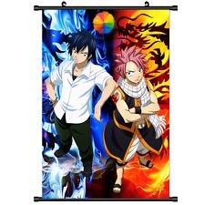 Anime Fairy Tail Natsu Grey Scroll Wall poster cosplay 2655