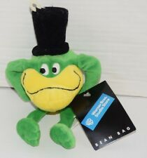 """Michigan J. Frog 9 1/2 """" Bean Bag Plush Toy Warner Bros Store New With Tags"""
