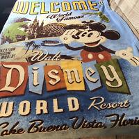 Blanket Mickey Mouse Fleece Throw Walt Disney World Theme Parks Lake Buena Vista