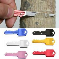 Mini Key Shaped Stainless Steel Keychain Pocket EDC Outdoor Folding Cutter