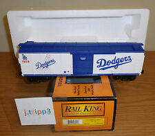 MTH 30-74178 LOS ANGELES DODGERS MLB BASEBALL BOXCAR O GAUGE TOY TRAIN RAILKING