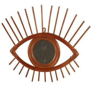 Lanu Eye Mirror - Bamboo - Tiki - Brown