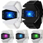 Boy Cool Luxury Digital LED Sports Mens youth Wrist Strap Watch fighter Watch RF