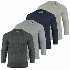 Brave Soul Men's Chunky, Cable Knit Knit Acrylic Jumpers & Cardigans