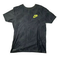 Nike Running Shirt Men's Size Large Grey Short Sleeve Run Dri-Fit Active