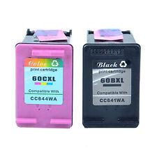 Compatible for HP Deskjet D1660 F4450 60XL Black & Tri-Color Ink Cartridge Set