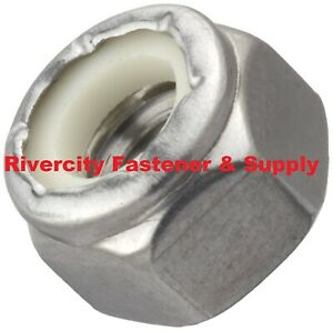 (2500) 10-24 Nylon Insert Lock / Stop / Nuts / Nylocks 18-8 Stainless Steel