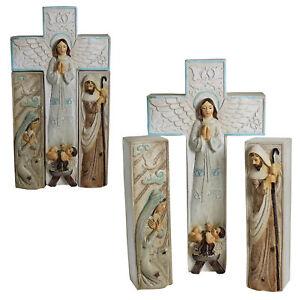 Winter Wonderland Christmas Nativity Mary Joseph & Baby Jesus - 3 Piece Set