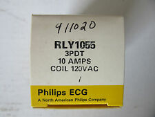 ECG Component Philips Relay RLY1055 Relay 3PDT 10A @ 240VAC, Coil 120VAC NEW!!!